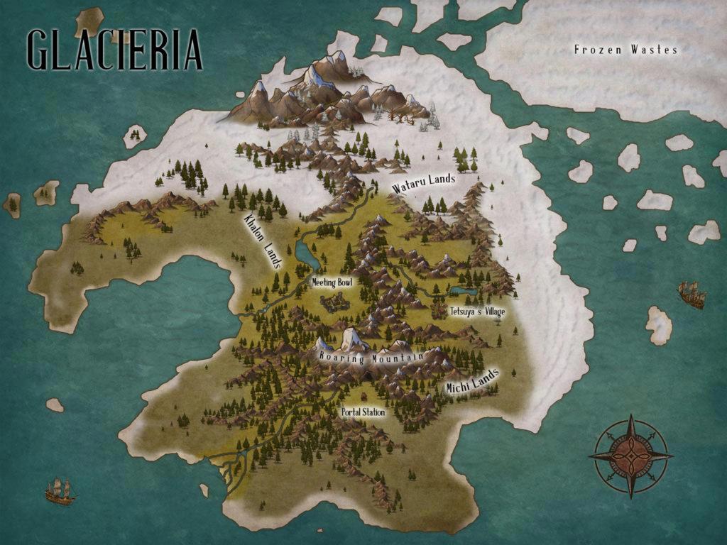 C.S. Wachter - Glacieria Map